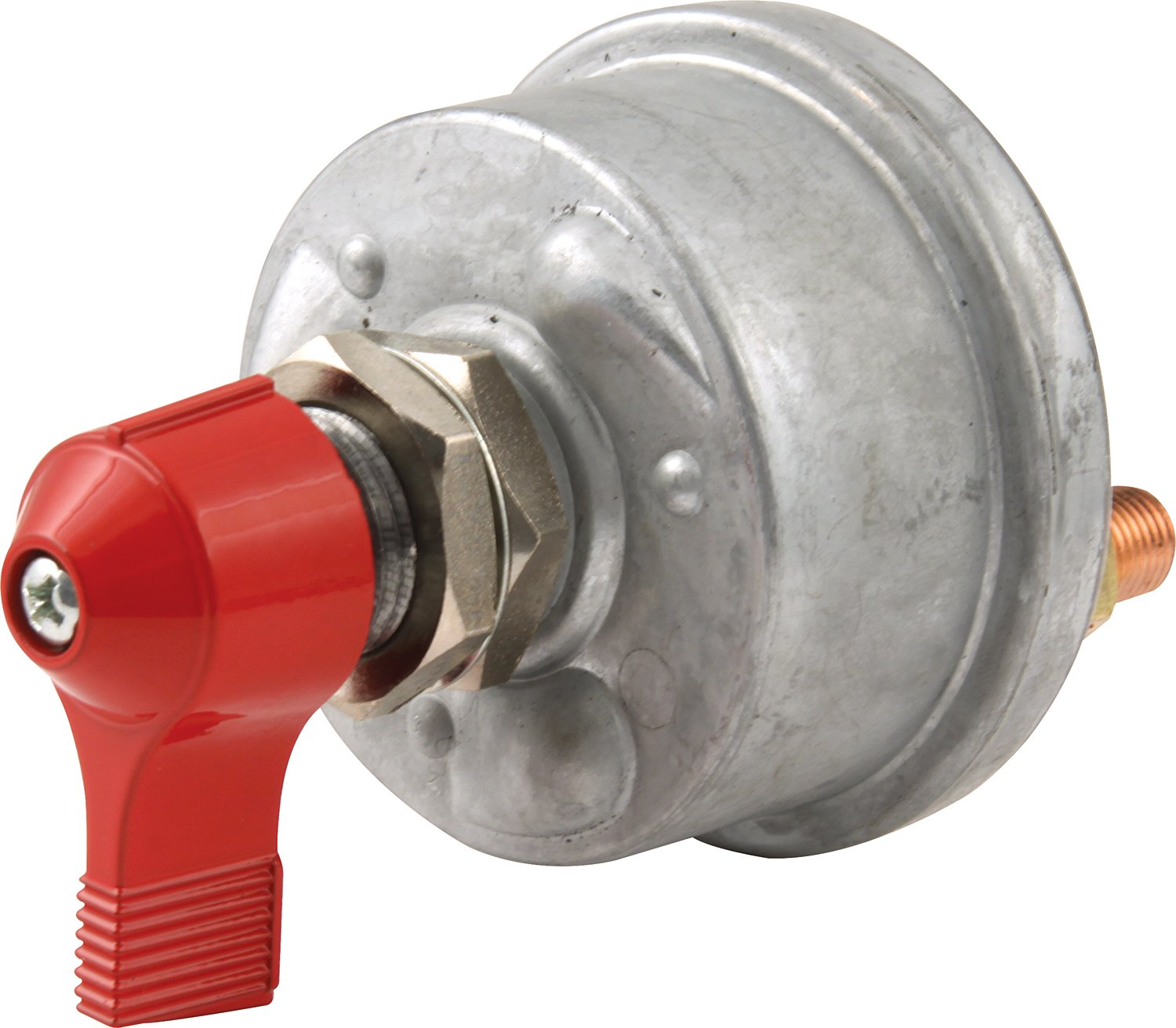 QuickCar Racing Products 55-009 Red 2-1//2 High x 2-1//2 Handle Wide Battery Master Disconnect Switch with Mounting Panel