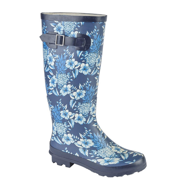 Woodland Womens/Ladies High Leg Wellington Boot (7 US) (Navy/Blue)