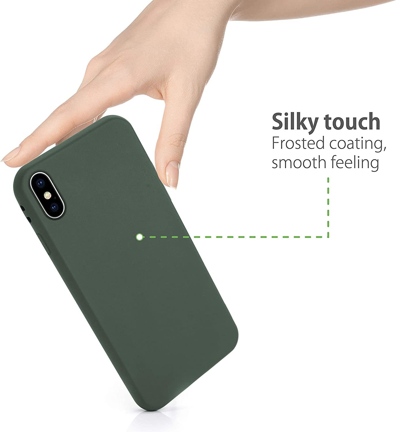 MyGadget Smooth Thin Case for Apple iPhone X//XS Pocket Friendly Anti-Scratch Shockproof Cover Protection Flexible Soft Silicone Shell Dark Purple
