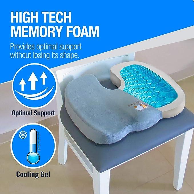 Amazon.com: Coccyx Espuma de memoria cojín para silla de ...