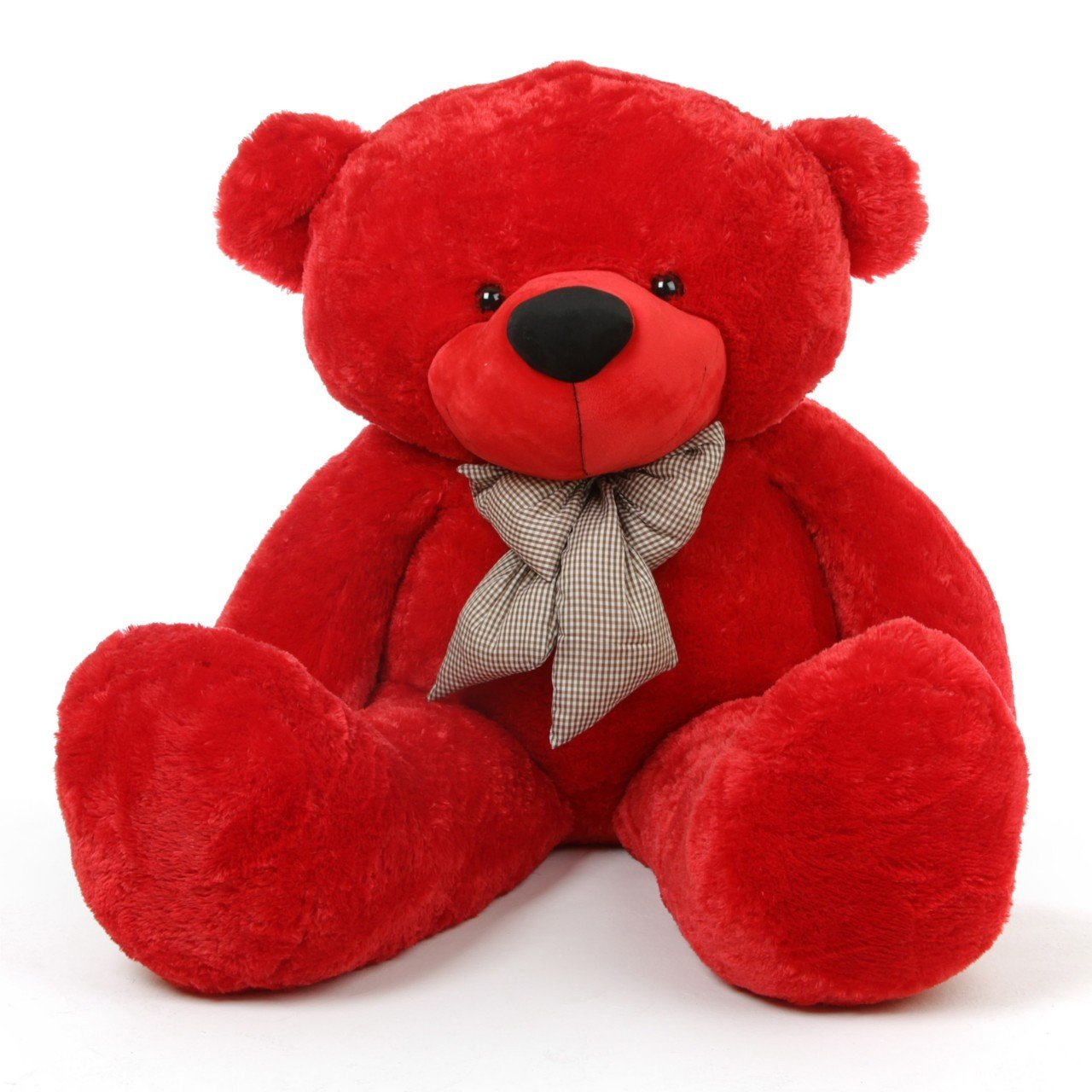 Red Teddy Bear 5 Feet, Buy 5 Feet Red Teddy Bear With A Bow Online At Low Prices In India Amazon In