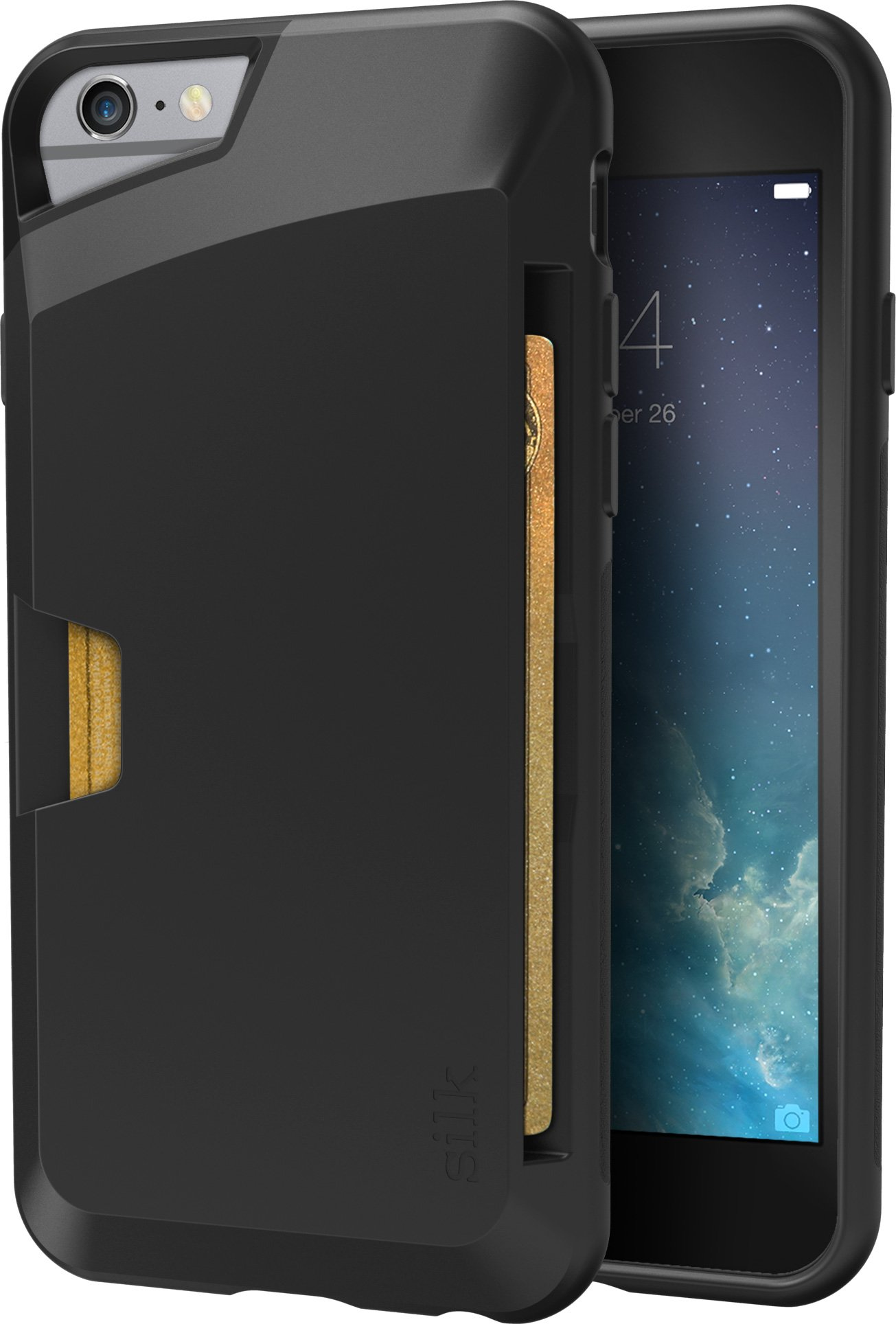 Silk iPhone 6/6s Wallet Case - VAULT Protective Credit Card Grip Cover -''Wallet Slayer Vol.1'' - Black Onyx