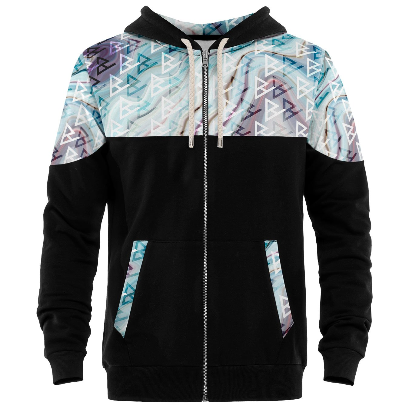 Blowhammer - Zip Up Kapuzenpullover Herren - Candy Galaxy ZH
