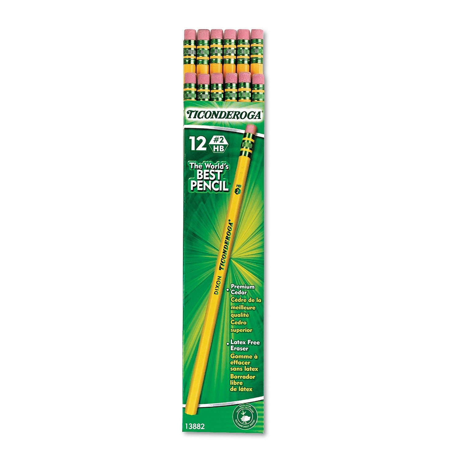 Ticonderoga SLGJHJ Woodcase Pencil, HB #2, Yellow Barrel, 96/Pack 4 Pack by Ticonderoga (Image #3)
