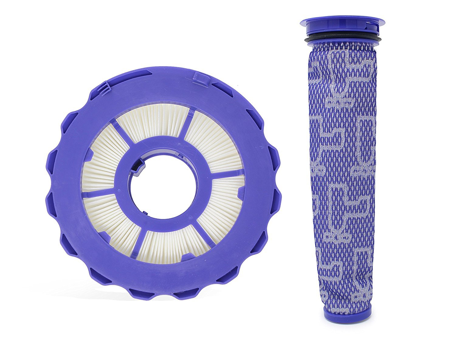 Leadaybetter Compatible Post & Pre Filter Set For Dyson DC40 Animal, Multi Floor, Origin and Total Clean Vacuums, Part Number 923587-02 & 922676-01