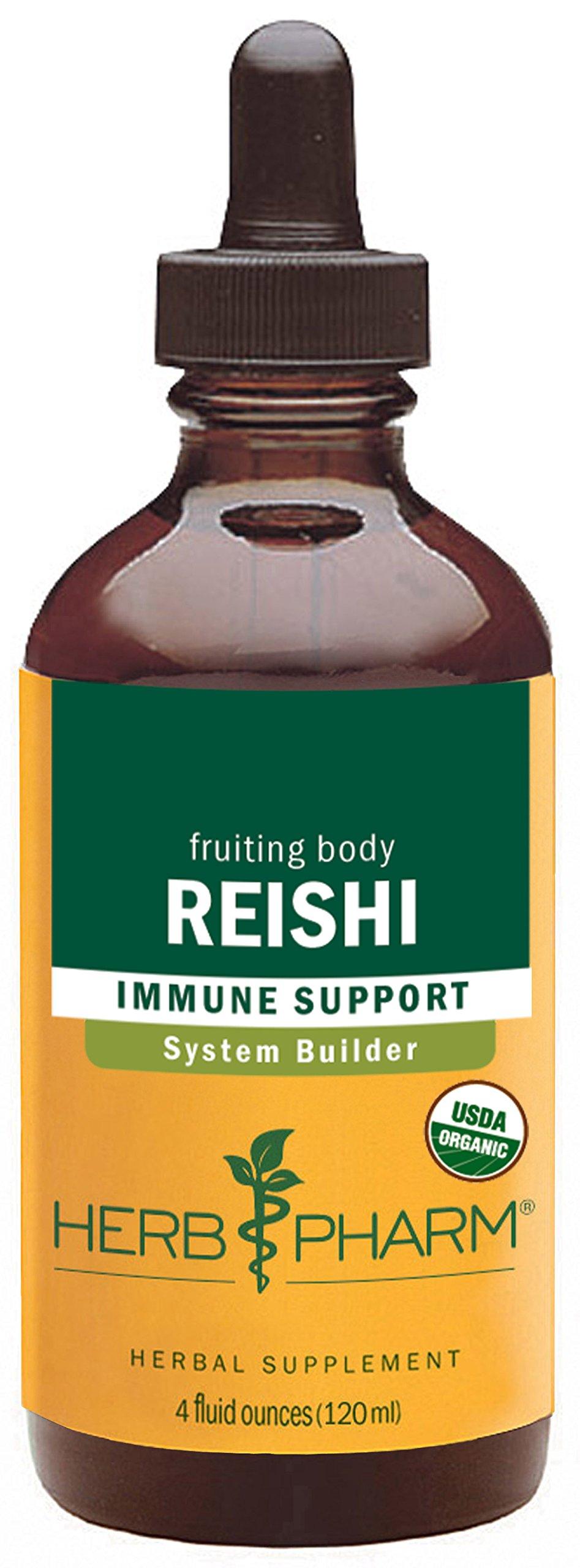 Herb Pharm Reishi Mushroom Extract Immune System Builder - 4 Ounce