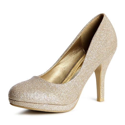 topschuhe24 Zapatos de Vestir de Otros Para Mujer, Color Plateado, Talla 36