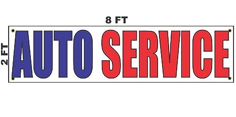 b0d5724df Amazon.com   2x8 AUTO Service Banner Sign 24