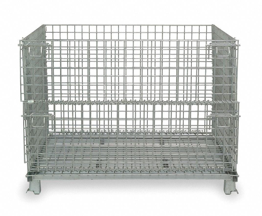 Amazon.com: Nashville Wire plegable contenedores con acero ...