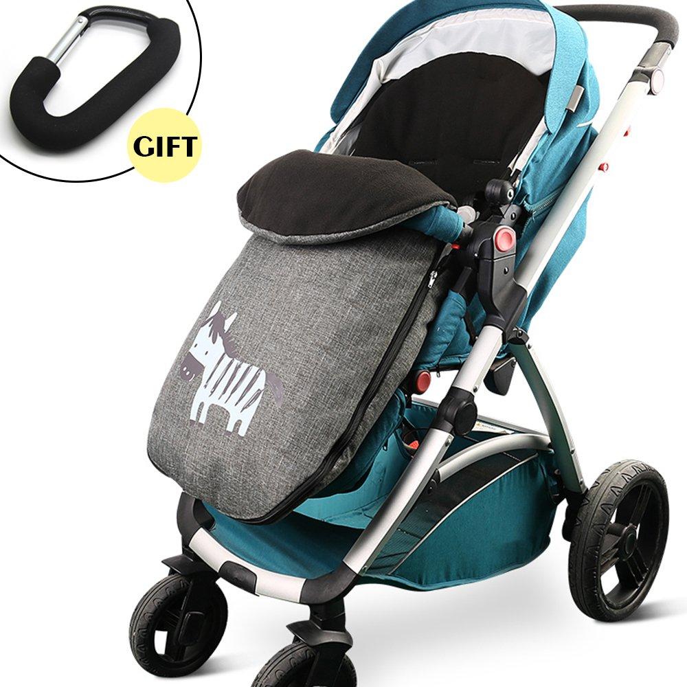 CELEMOON [Upgraded Version] Universal Baby Stroller Sleeping Bag, Baby Bunting Bag Footmuff Warmer for Toddler, Grey