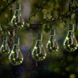GloBrite 2 x Ornamental light Bulb Firefly Hanging Solar Powered Outdoor Garden Lights