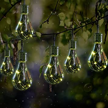 GloBrite 2 x Ornamental light Bulb Firefly Hanging Solar Powered