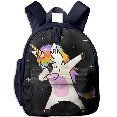 low-cost Unicorn Cute Dabbing Funny Dab Dance Gift Boys Casual Lightweight Canvas Backpacks School Rucksack Travel Backpack.