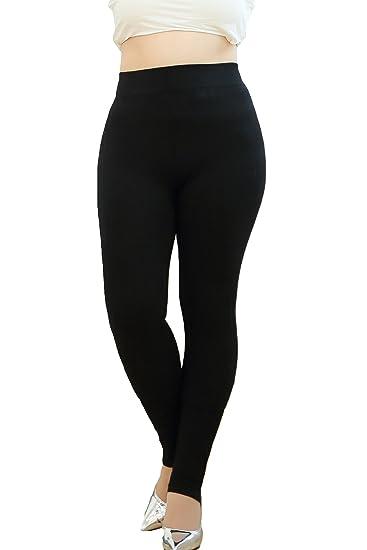 Premium Soft Plus Size Women's Slimming Tummy Control Leggings