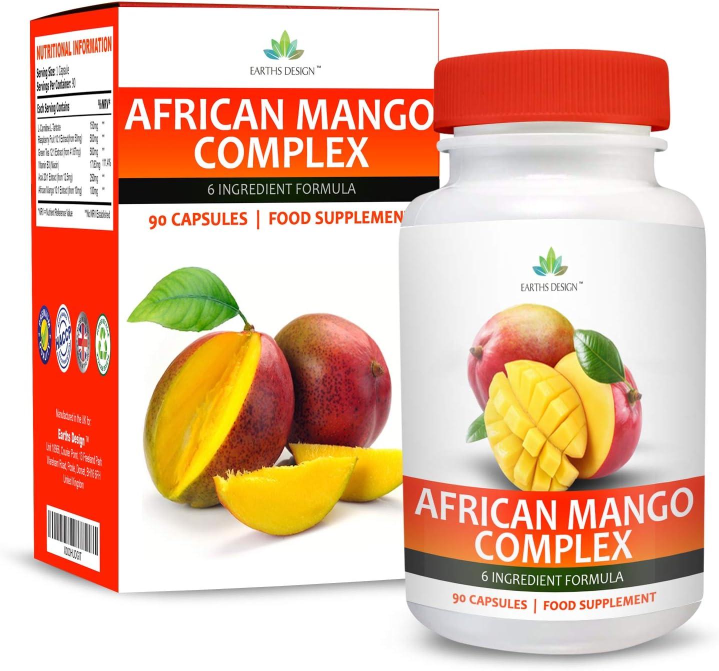 Complejo Mango Africano - Con Cetonas de Frambuesa, Capsicum, Café ...