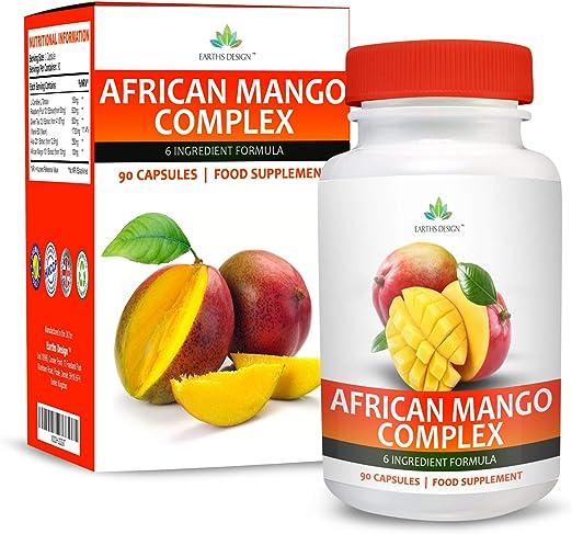 Complejo Mango Africano - Con Cetonas de Frambuesa, Capsicum, Café Verde y Glucomanano - Suplemento Máxima Concentración - Apto Vegetarianos - 90 ...