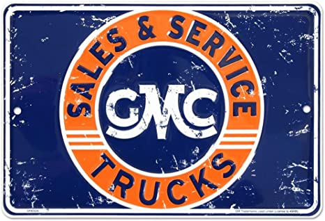 metal tin sign combo GMC Trucks//Chevy Parts man cave shop garage USA wall decor