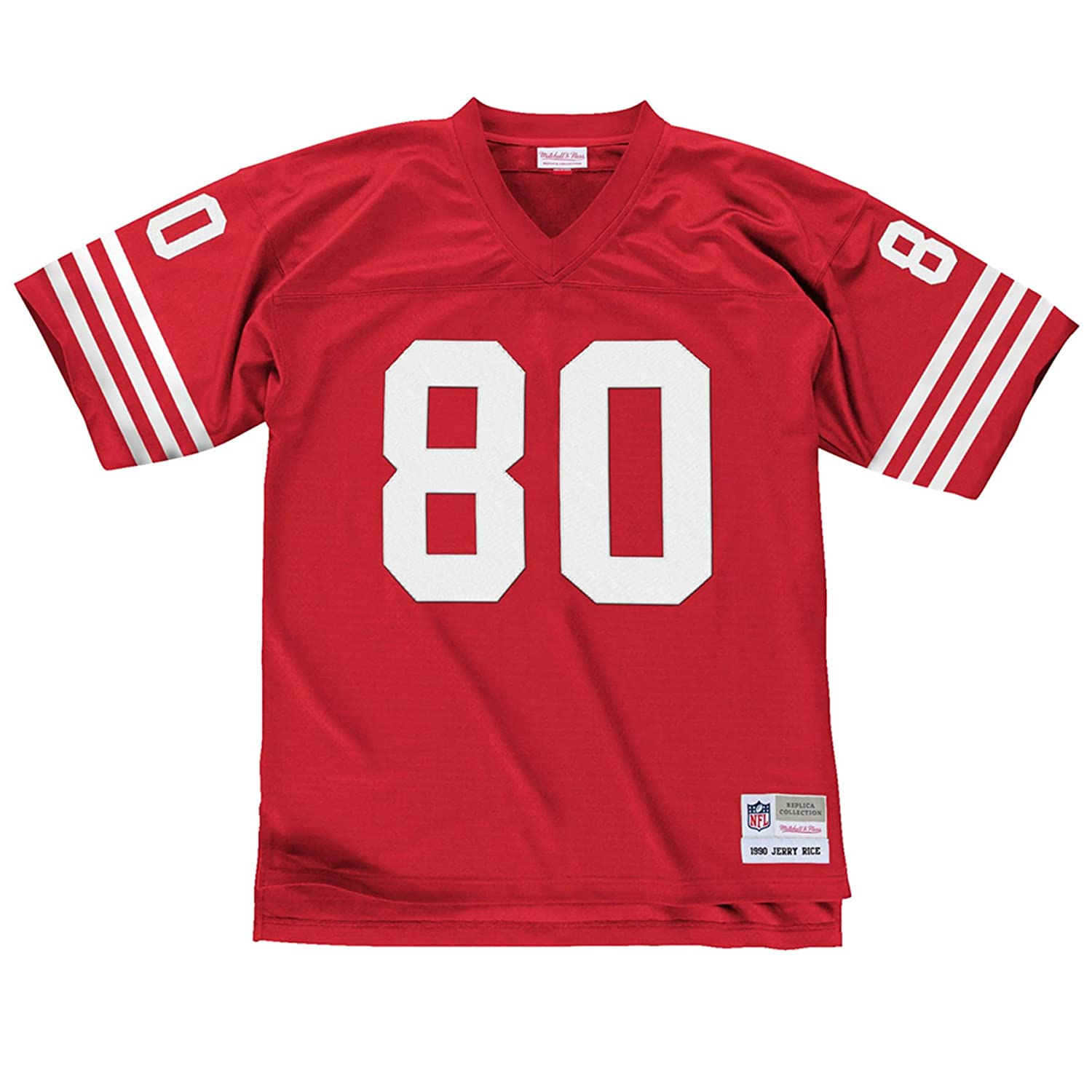 375668147ad Amazon.com   San Francisco 49ers Mitchell   Ness 1990 Jerry Rice  80 Replica  Throwback Jersey   Clothing