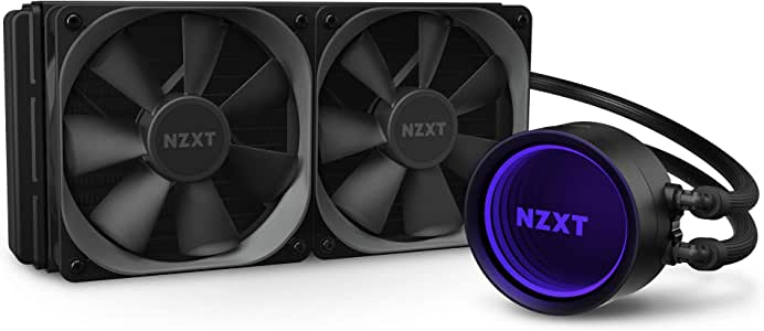 NZXT Kraken X63 280mm - RL-KRX63-01 - AIO RGB CPU Liquid Cooler - Rotating Infinity Mirror Design - Improved Pump - Powered By CAM V4 - RGB Connector - Aer P 140mm Radiator Fans (2 Included)