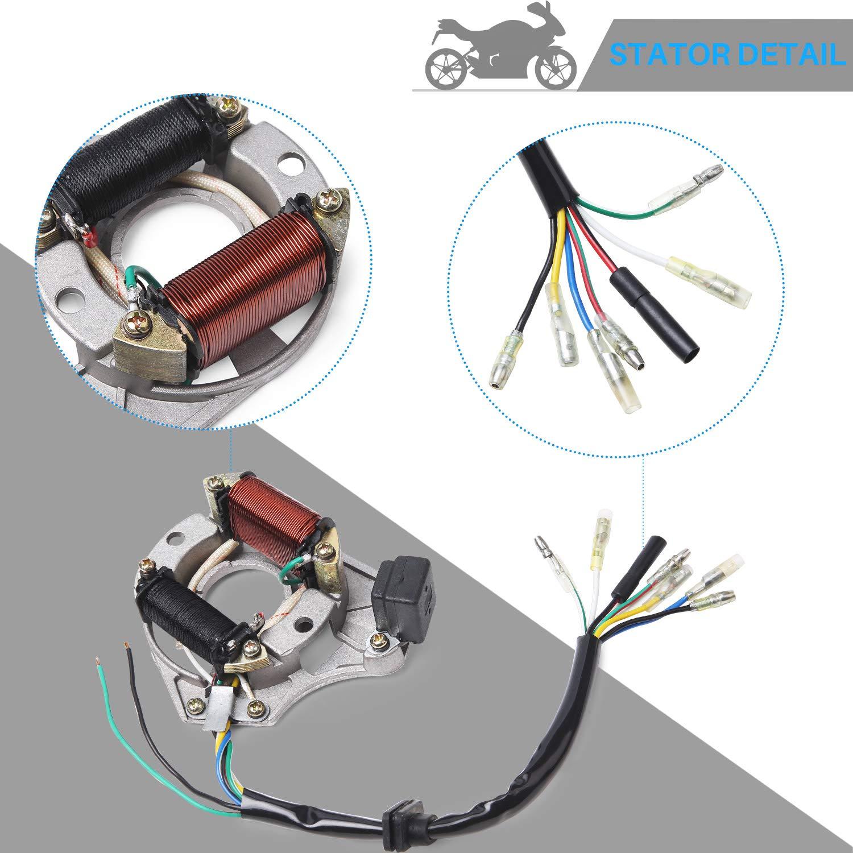 Cisno Complete Electrics Stator Coil Cdi Wiring Harness Kazuma Diagram For 4 Stroke Atv Klx 50cc 70cc 110cc 125cc Automotive