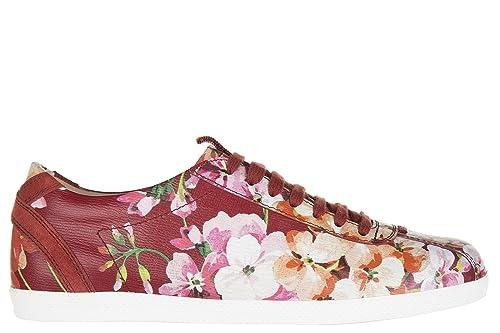 Gucci zapatos zapatillas de deporte mujer en piel nuevo shangai rojo EU 36.5 408527 DJH50 6497: Amazon.es: Zapatos y complementos