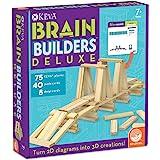 MindWare Keva Brain Builders Deluxe: 75 KEVA Planks, 40 Puzzle Cards, 8 Design Cards, 3D Building Skills for Kids