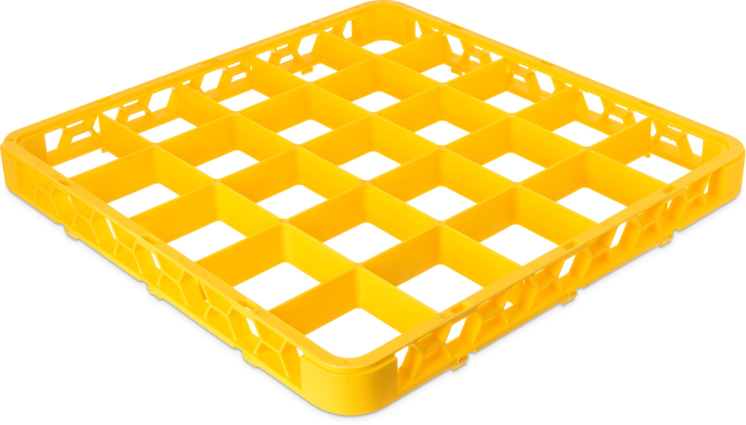 Carlisle RE25C04 OptiClean 25 Compartment Cup Rack Extender, 3-1/2'' Compartments, Yellow (Pack of 6)