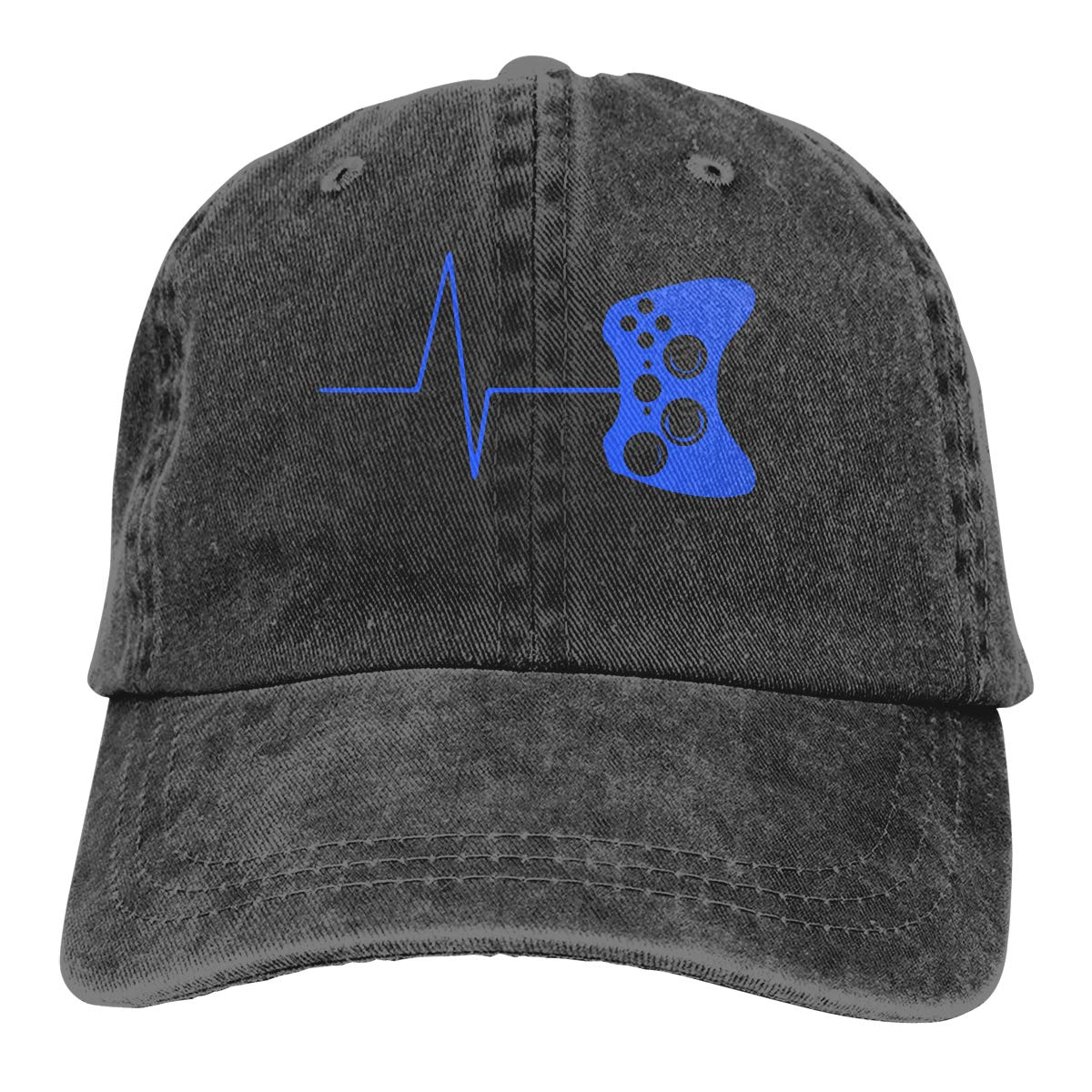 Heartbeat of A Gamer Adult Personalize Cowboy Casquette Adjustable Baseball Cap
