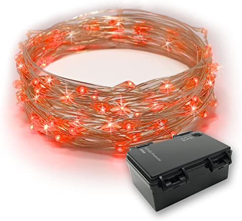 RTGS 60 Cold White Color LED String Lights Battery Operated on 20 Feet Long