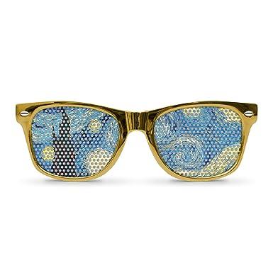 Amazon.com: Noche estrellada Oro Retro anteojos de sol de ...