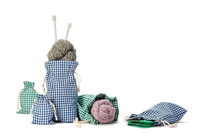 organzabeutel24 Tischdekoration Geschenkverpackung Home Oktoberfest kariert Gr/ö/ße 23x15cm Baumwollbeutel im Landhaus-Look Landhaus-Dekoration 12 Baumwolls/äckchen Lifestyle blau-weiss