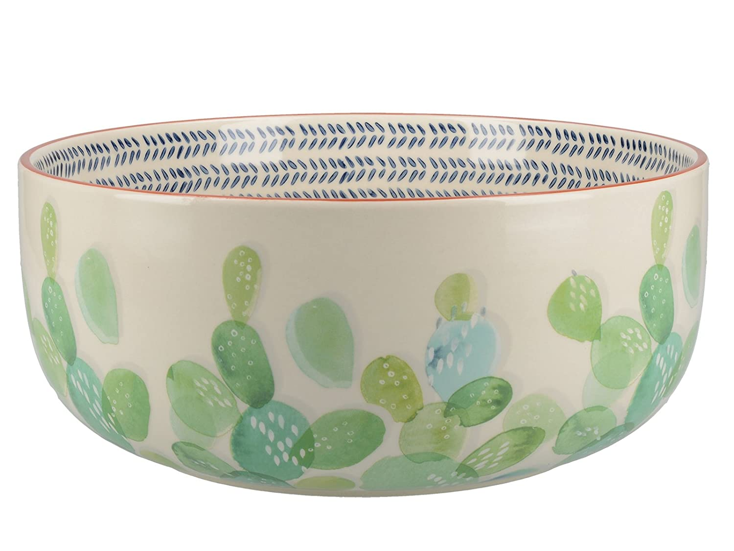 """/""""Drift/"""" Hand-Decorated Ceramic Salad Bowl by Creative Tops 24 cm 9/½"""