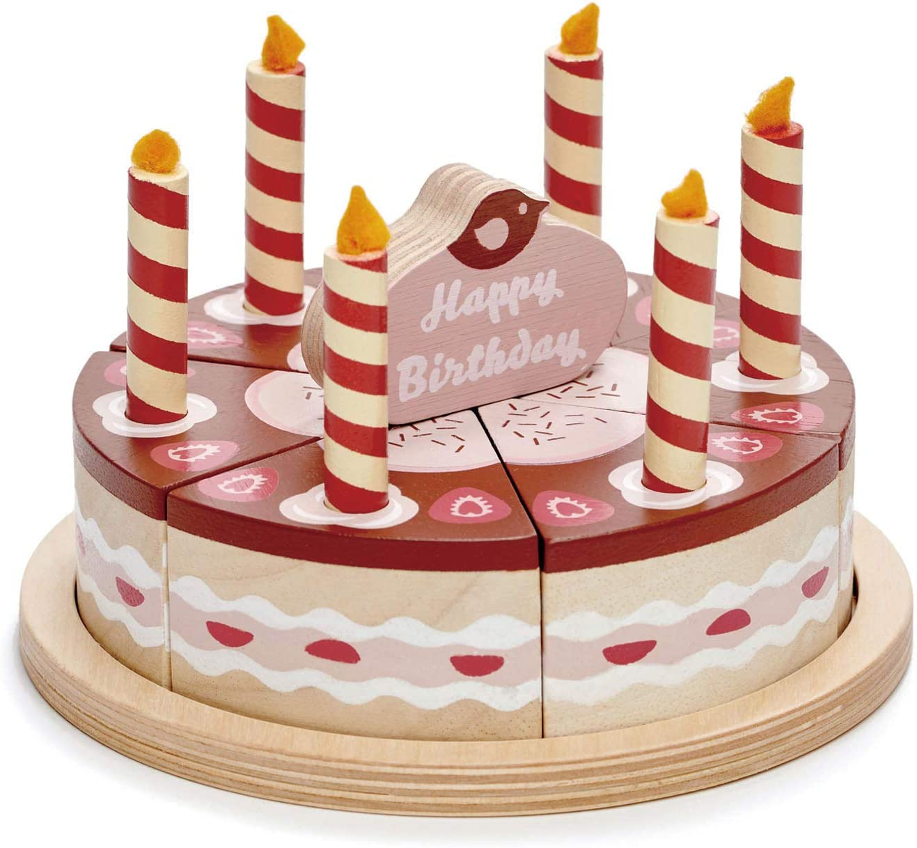 Phenomenal Amazon Com Tender Leaf Toys Pretend Food Play Birthday Cake Personalised Birthday Cards Vishlily Jamesorg