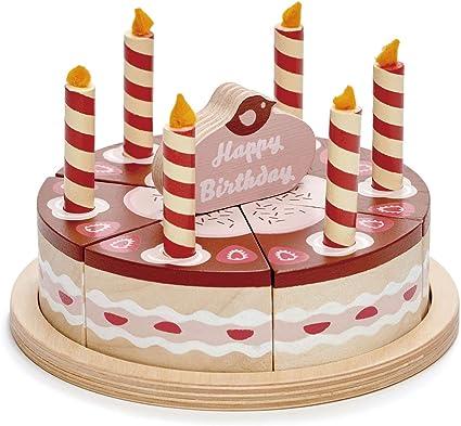 Swell Amazon Com Tender Leaf Toys Pretend Food Play Birthday Cake Personalised Birthday Cards Veneteletsinfo