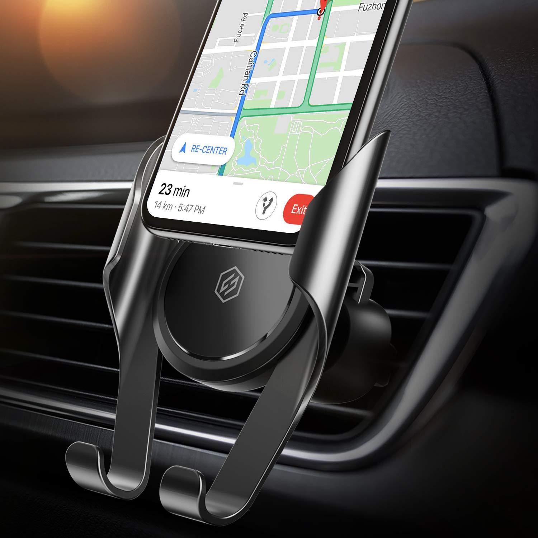 Support Téléphone Voiture Ventilation, Seiaol Universal Mémoire Auto à Grille d\'aération Voiture avec Rotation 360°Réglable pour iPhone x/iPhone 8/7/7 Plus/6S/6 Plus 5S SE,Galaxy S8/S7/S6 Edge/S6 Etc.