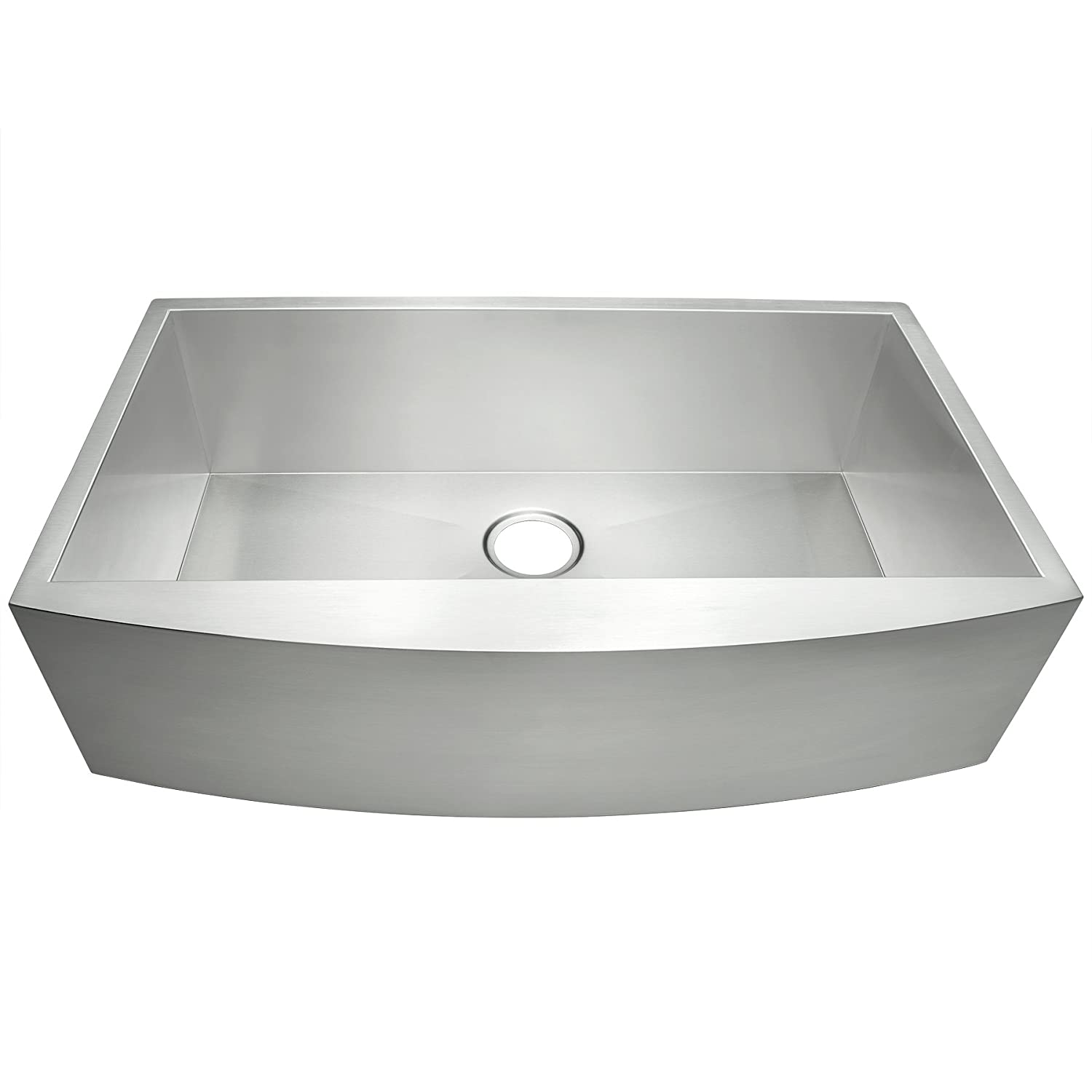 Akdy 33 X 20 X 9 Single Bowls 18 Gauge Undermount Apron Handmade Stainless Steel Kitchen Sink Amazon Com