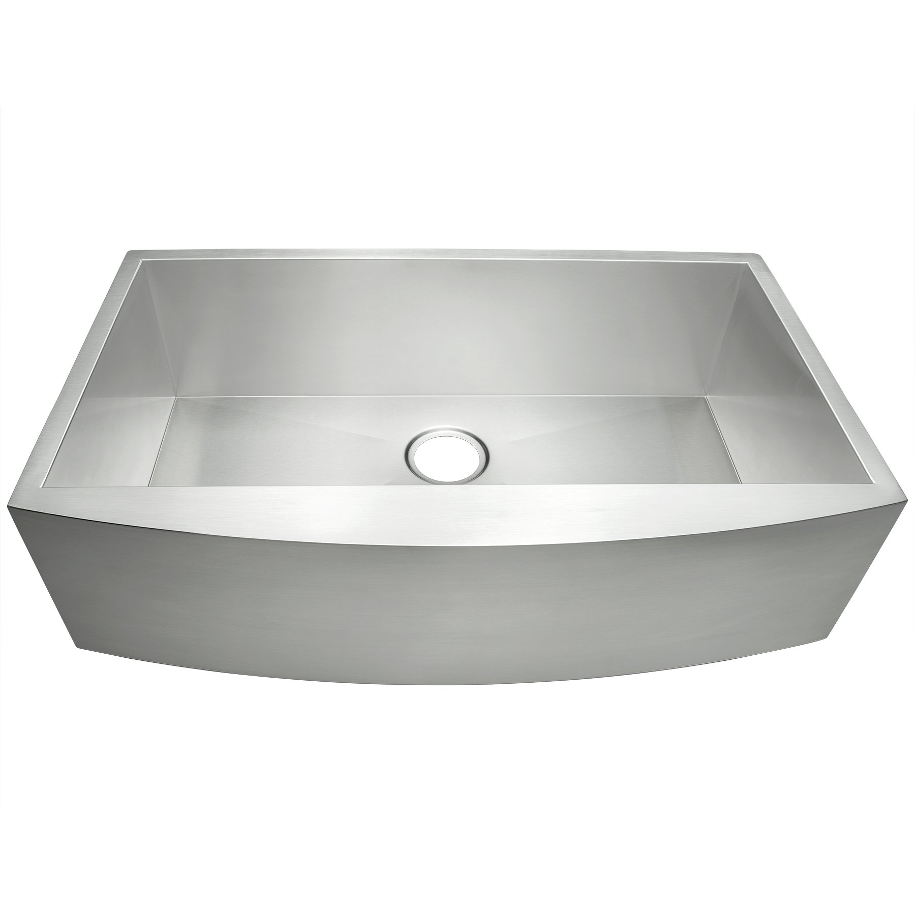 Golden Vantage 33'' Undermount Apron Zero Radius 16 Gauge Curved Front Stainless Steel Zero Radius Kitchen Sink (Single Bowl)