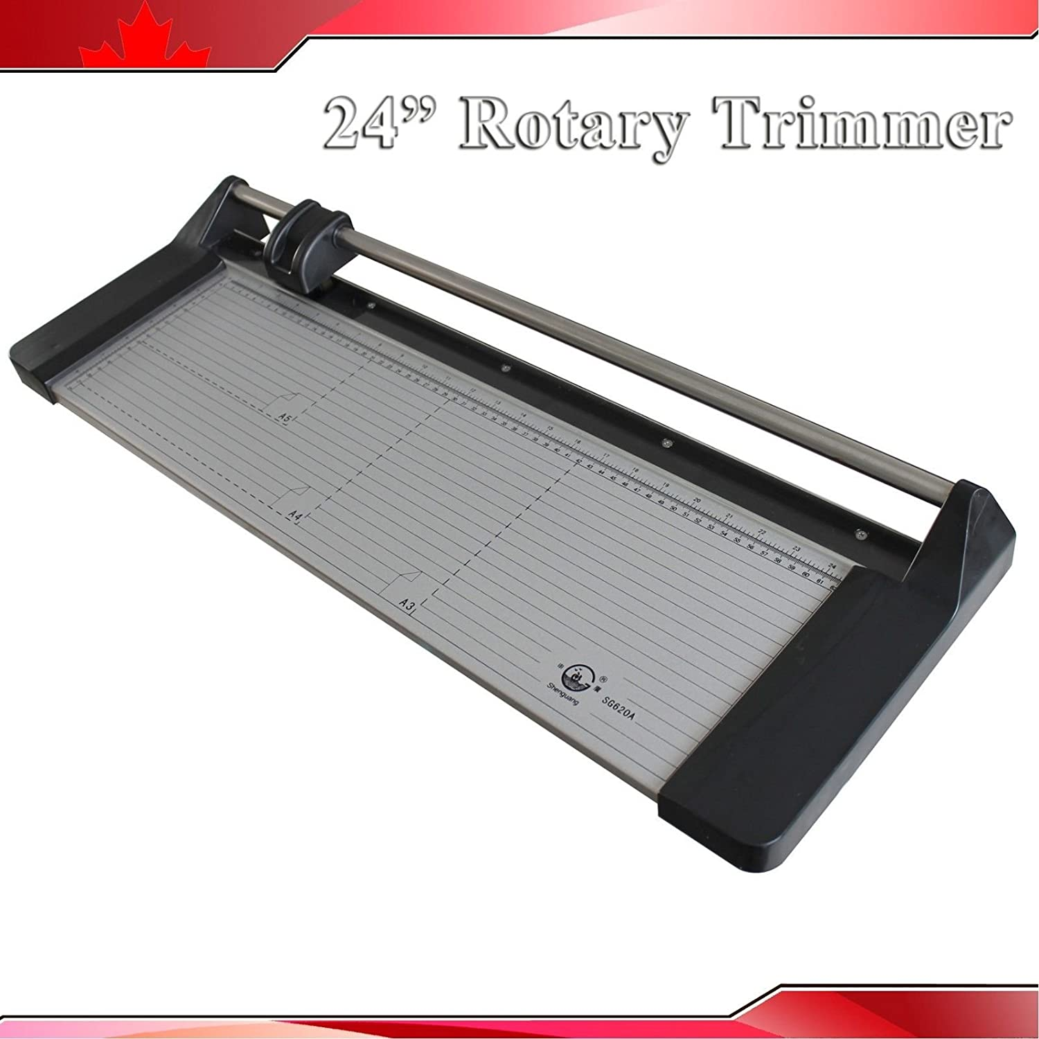 24In 620mm Rotary Photo Vinyl Paper Cutter Portable Trimmer +1 Blade(Item #026432) CN
