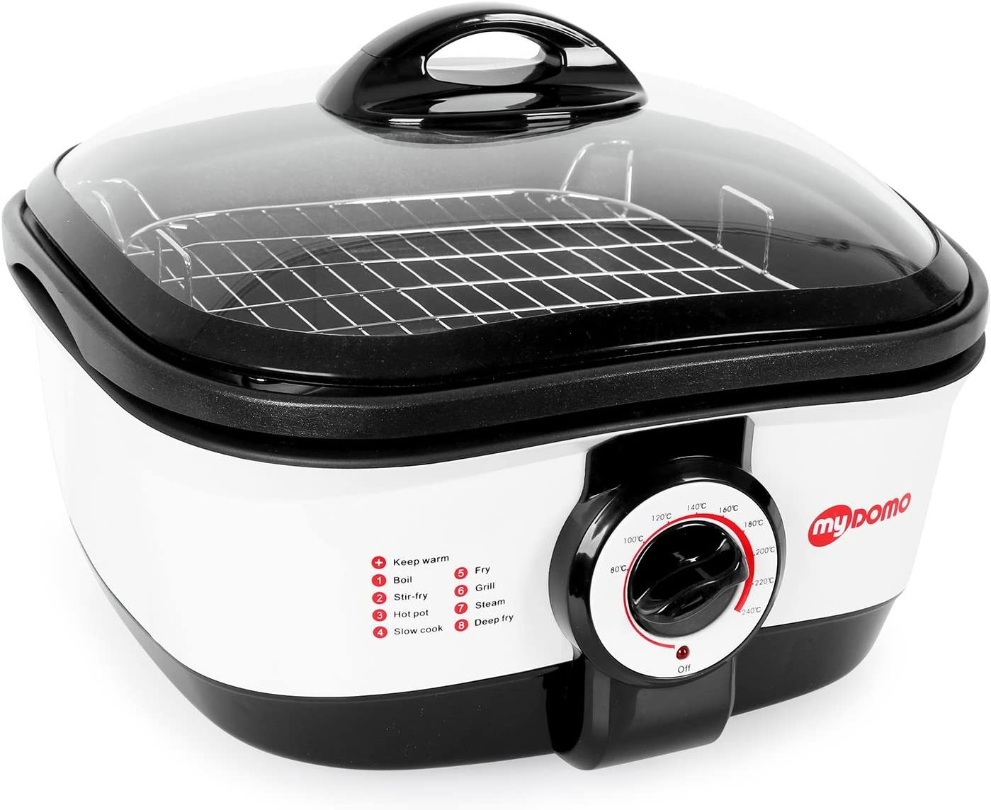 myDOMO MF-01 Cooking Master 8 en 1 Olla multifunción (5L, 1500W, 8 ...