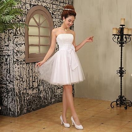 JJK Vestidos de Dama de Honor Vestidos de Novia Vestidos de Novia Peque?os Vestidos