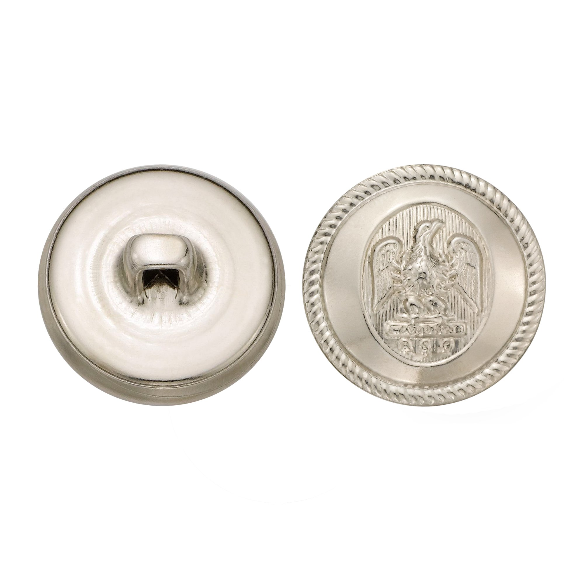 C&C Metal Products 5064 Rope Rim Usa Eagle Metal Button, Size 30 Ligne, Nickel, 36-Pack