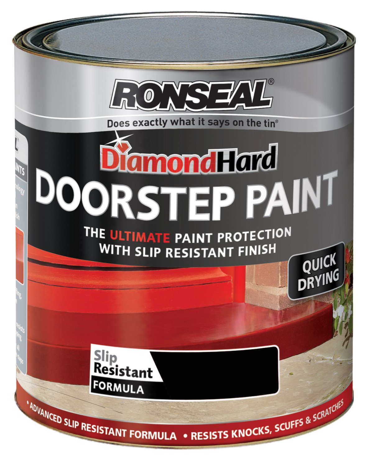 Red Tile Paint For Kitchens Ronseal Dhdspr750 750ml Diamond Hard Doorstep Paint Tile Red