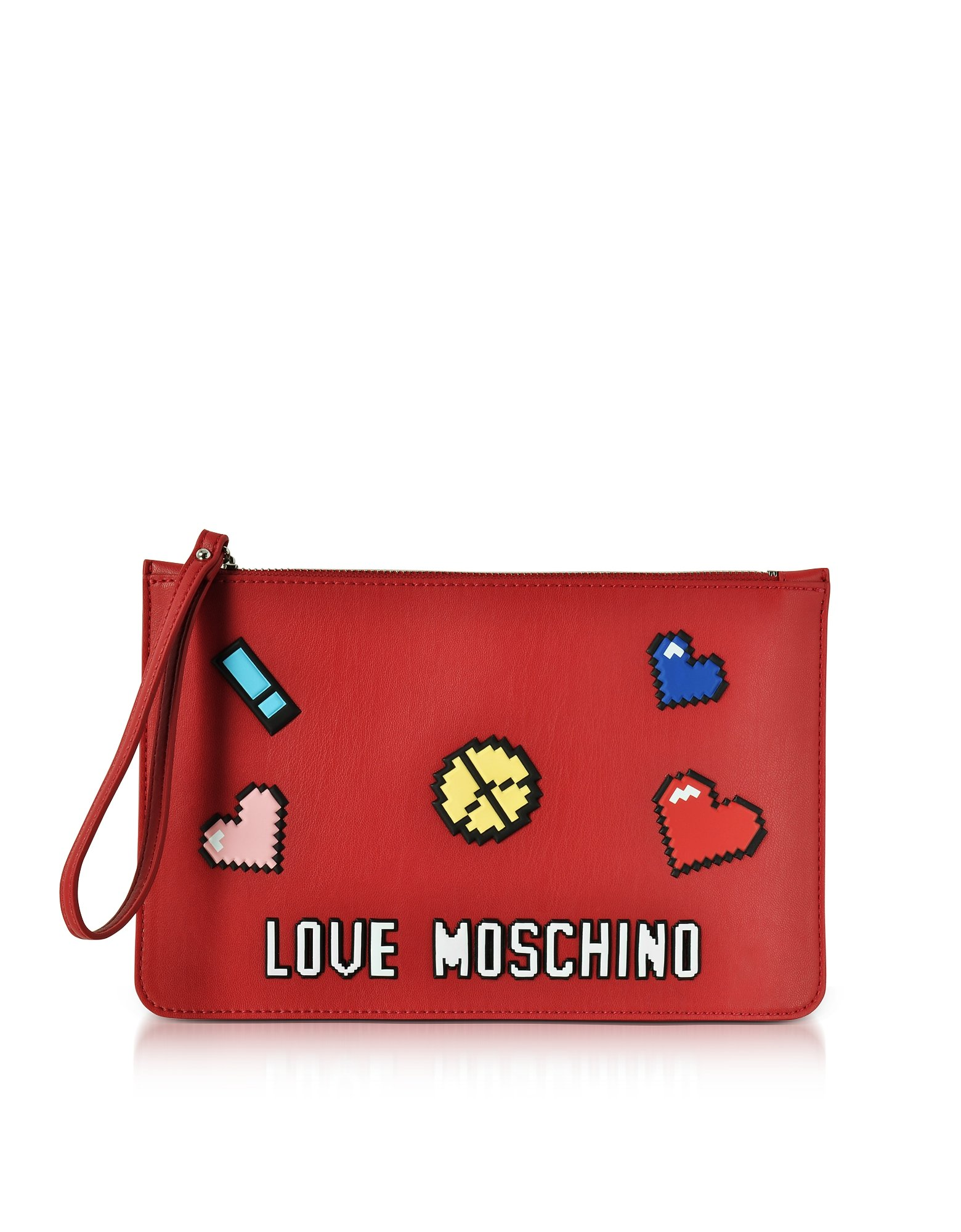Love Moschino Women's Jc4071pp15lh0500 Red Leather Shoulder Bag