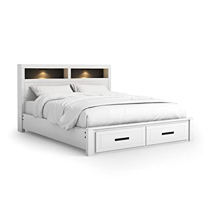 Amazon.com: HOMES: Inside + Out ioHOMES Two-Tone Maxus Storage Bed ...