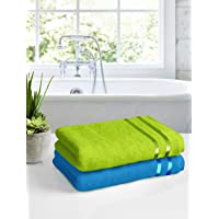 Story@Home 100% Cotton 450 GSM 2 Piece Bath Towel Set :: 60 x 120 cm