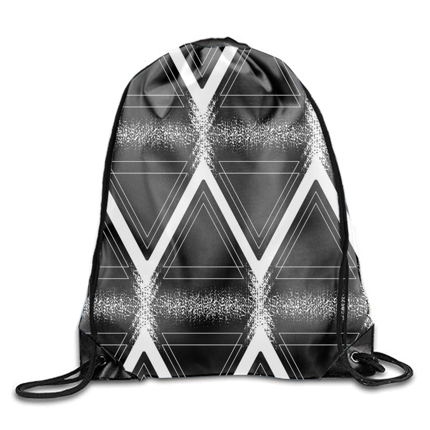 1 Pieces Drawstring Bag Graphic Triangular Sack Pack Cinch Tote Kids Adults Storage Bag for Gym Traveling (Multicolored)