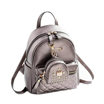 Amazon.com  Cute Small Backpack Mini Purse Casual Daypacks Leather for Teen  Girls and Women (Bronze)  EZ HOME af6a4bf5526e3