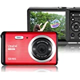 Vmotal GDC80X2 Mini Compact Digital Camera 12 MP HD 3.0 Inch TFT LCD Screen for Children / Beginners / Elderly Christmas Gift (Red & Black)