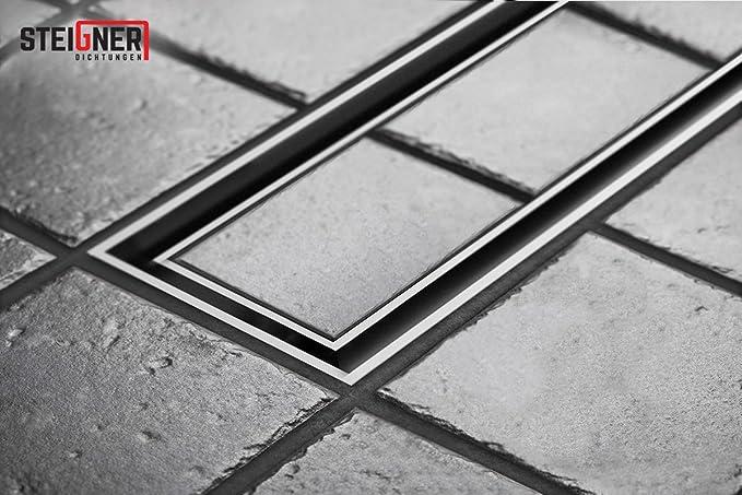 STEIGNER Desagüe de Ducha Lineal 80 cm SDR90 Berlin Canalón Acero Inoxidable sifón Metálico: Amazon.es: Bricolaje y herramientas