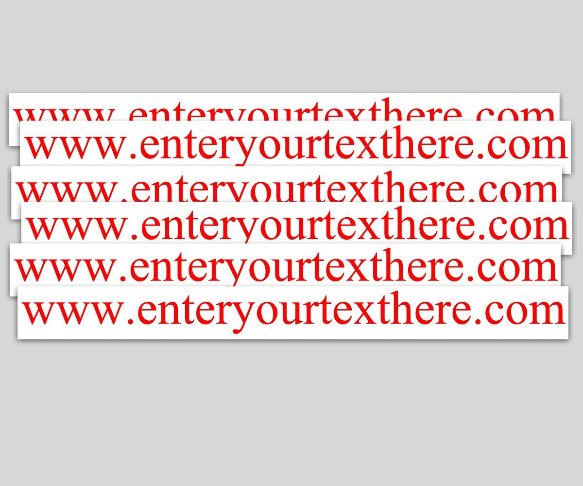 Amazon com custom vinyl decals with your text 3x 30 qty 6 advertise website business widow sticker automotive